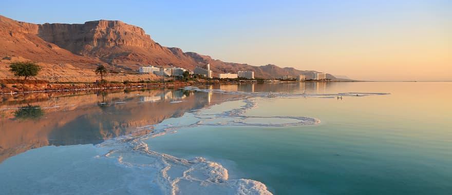 Salt deposits in the Dead Sea, Israel