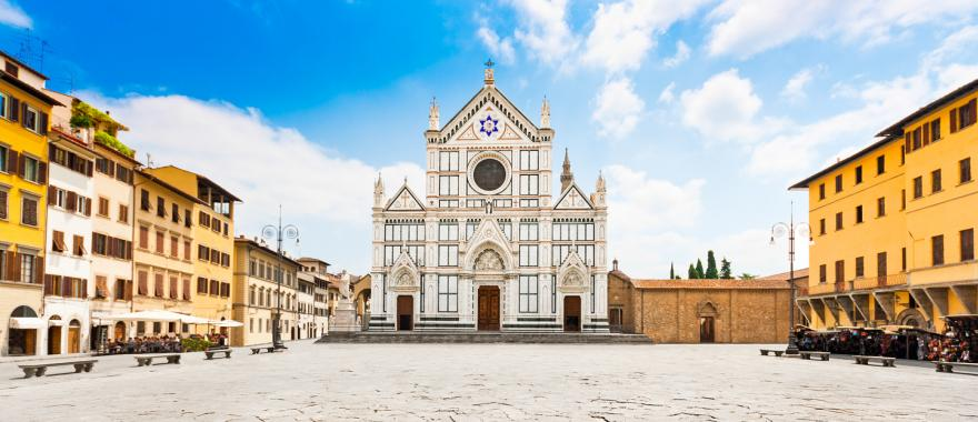 The Basilica of Santa Croce in Florence, Italy