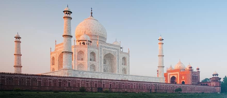 Sunrise at the Taj Mahal in India
