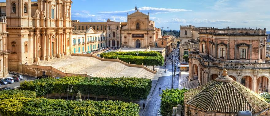 Noto Cathedral, in Sicily, Italy