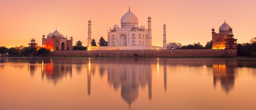 The famous Taj Mahal is located in Agra, India.
