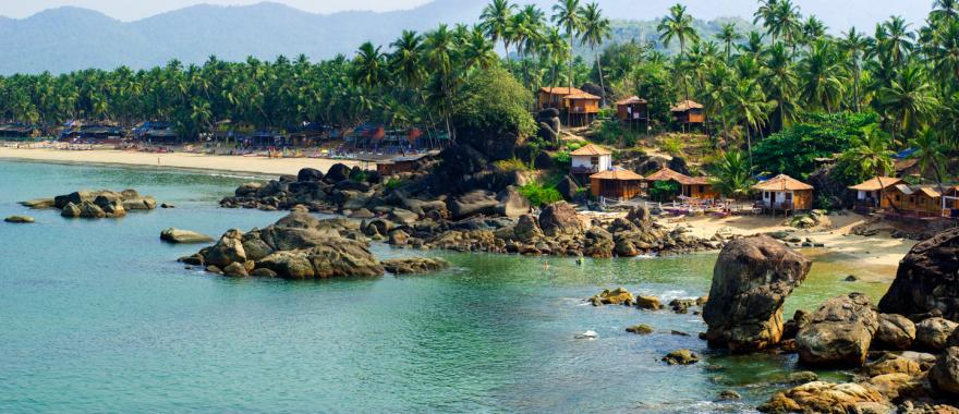 Goa, India is known for its beaches and spicy cuisine.