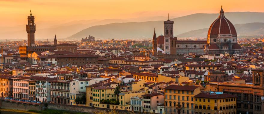 Florence at sunset.