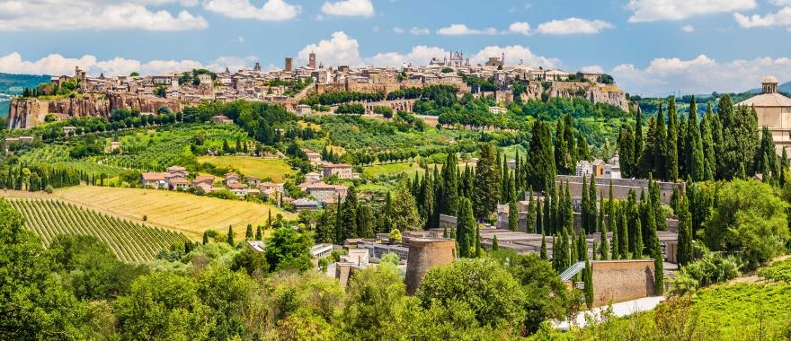 Panoramic view of Orvieto, Umbria, Italy. Credit: Canadastock at Shutterstock.