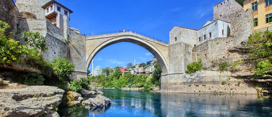 The Old Bridge - Stari Most - in Mostar, Bosnia.