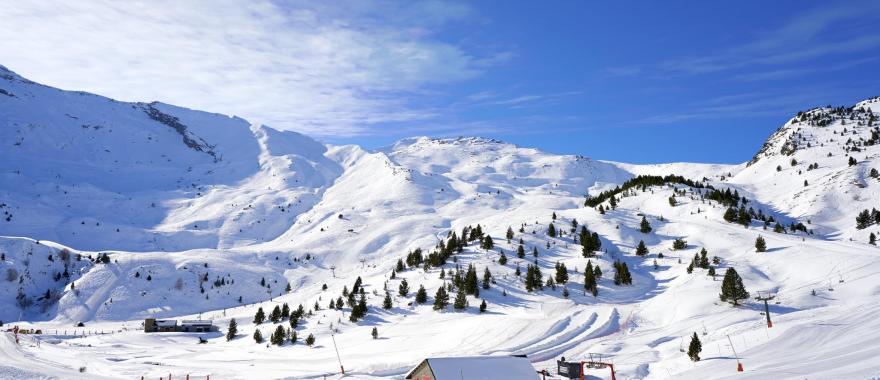 Huesca Cerler ski area in Spanish Pyrenees.