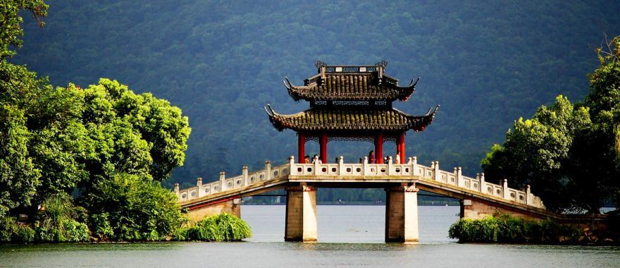 A bridge in Hangzhou, China.