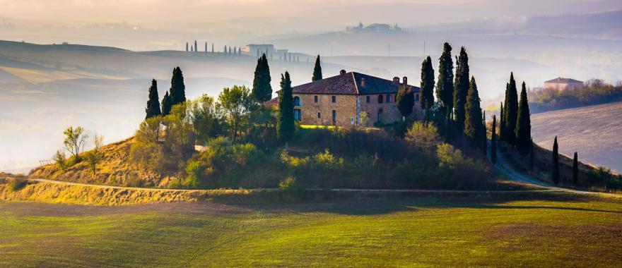 A villa in Tuscany, Italy.