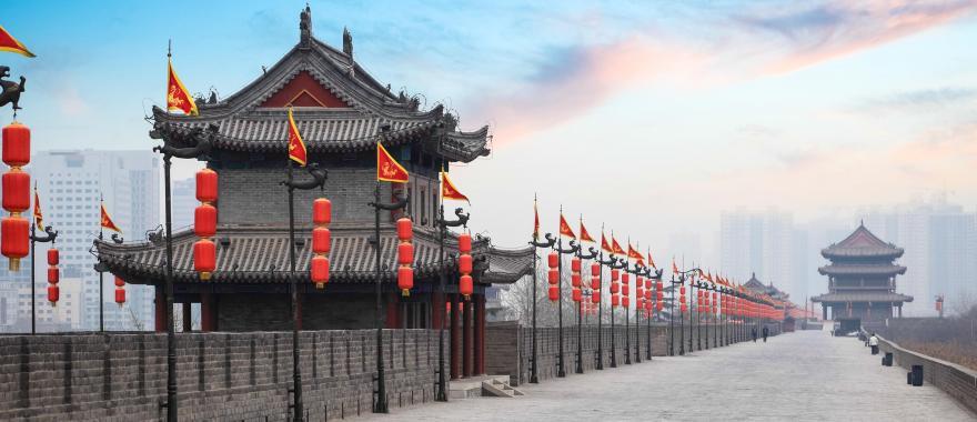 An ancient gate in Xian, China.