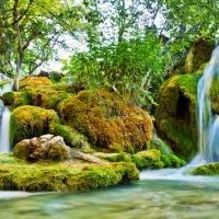 Waterfalls in Plitvice National Park, Croatia.