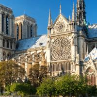 The cathedral of Notre Dame in Paris, France.