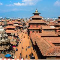 Kathmandu durbar square overhead.