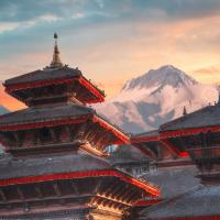 Ancient city in Kathmandu Valley Nepal.