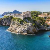 Fort guards northern entrance Dubrovnik, Croatia.