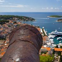 View from fort in Hvar, Croatia.