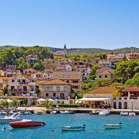 Beautiful port on Hvar island, Croatia.
