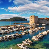 The port in Dubrovnik, Croatia.