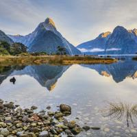 Mitre Peak at Milford Sound.