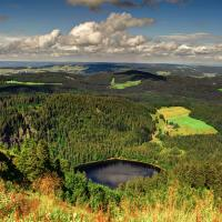 Beautiful panorama view over the Black Forest