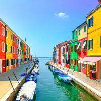 Burano Island in the Province of Venice.