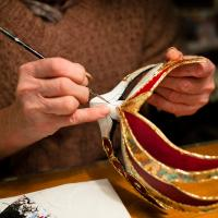 Venetian Carnival mask making.