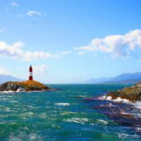 Lighthouse in the Beagle Channel of Ushuaia.