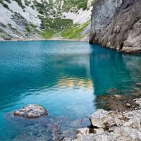 Blue lake in Split, Croatia.