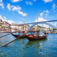 portugal porto boats on the river
