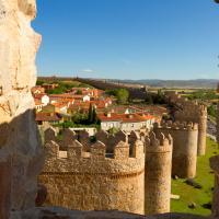 spain avila medieval city walls